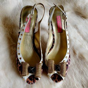 Betsey Johnson Cheetah Platforms SZ 6.5 M